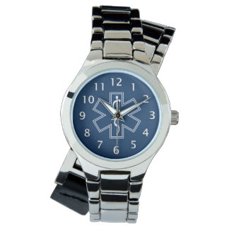 Paramedic EMT EMS Blue Wrist Watch
