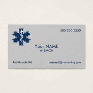 Ems business cards templates zazzle paramedic emt ems business card colourmoves Image collections