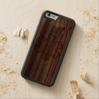 Paramedic EMT EMS Carved Walnut iPhone 6 Bumper Case