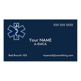 Paramedic EMT EMS Dark Business Card