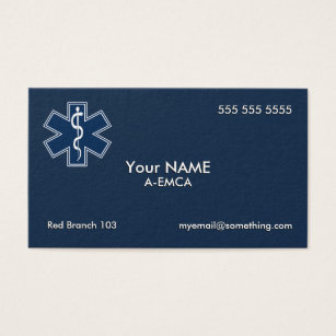 Ems business cards templates zazzle paramedic emt ems dark business card colourmoves Image collections