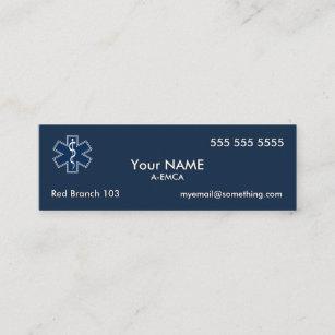 Emt mini business cards templates zazzle paramedic emt ems dark mini business card colourmoves