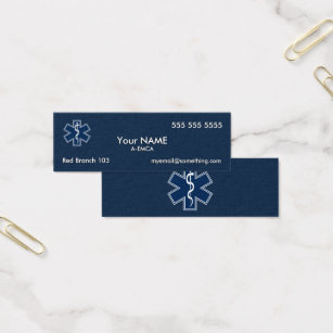 Paramedic emergency ambulance business cards templates zazzle paramedic emt ems dark mini business card colourmoves Image collections