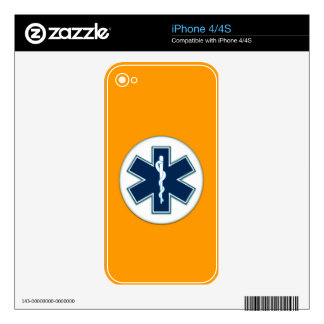 Paramedic EMT EMS Decal For iPhone 4