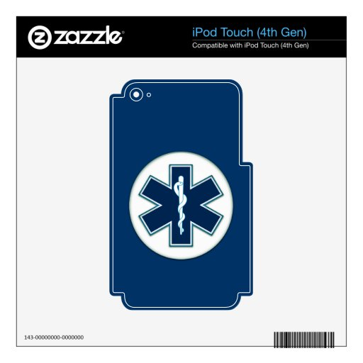 Paramedic EMT EMS Decals For iPod Touch 4G