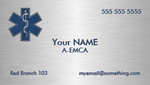 Deluxe business cards templates zazzle paramedic emt ems deluxe business card colourmoves