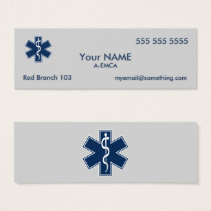Paramedic emergency ambulance business cards templates zazzle paramedic emt ems mini business card colourmoves Image collections