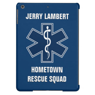 Paramedic EMT EMS Name Template Case For iPad Air