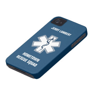 Paramedic EMT EMS Name Template iPhone 4 Cases