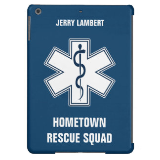 Paramedic EMT EMS Name Template iPad Air Case