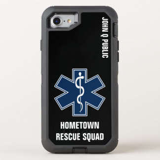 Paramedic EMT EMS Name template OtterBox Defender iPhone 7 Case