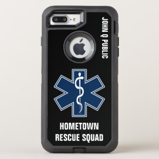 Paramedic EMT EMS Name template OtterBox Defender iPhone 7 Plus Case
