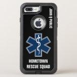 Paramedic EMT EMS Name template OtterBox Defender iPhone 8 Plus/7 Plus Case