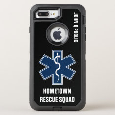 Paramedic Emt Ems Name Template Otterbox Defender Iphone 8 Plus/7 Plus Case at Zazzle