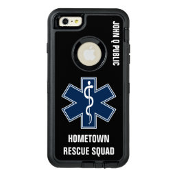Paramedic EMT EMS Name template OtterBox Defender iPhone Case