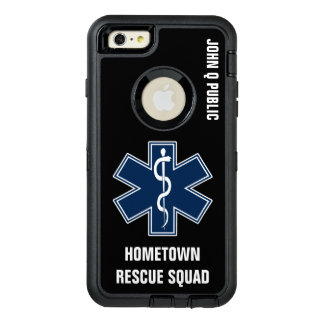 Paramedic EMT EMS Name template OtterBox Defender iPhone Case