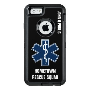 Paramedic Emt Ems Name Template Otterbox Defender Iphone Case by JerryLambert at Zazzle