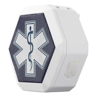 Paramedic EMT EMS White Emblem White Bluetooth Speaker
