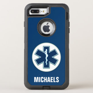 Paramedic EMT EMS with Name OtterBox Defender iPhone 8 Plus/7 Plus Case