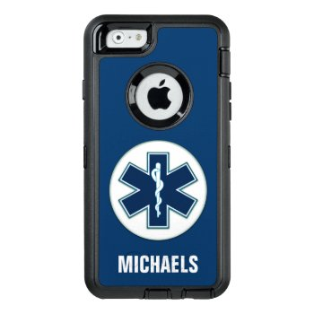 Paramedic Emt Ems With Name Otterbox Defender Iphone Case by JerryLambert at Zazzle