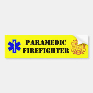 PARAMEDIC-FIREFIGHTER - bumper sticker