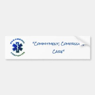 Paramedic Firefighter Bumper Sticker