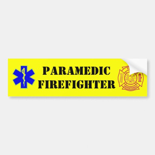 PARAMEDIC-FIREFIGHTER - pegatina para el parachoqu Etiqueta De Parachoque