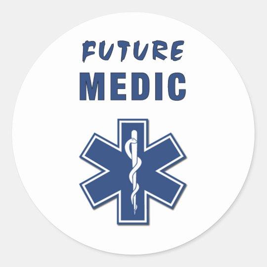 Paramedic Future Medic Classic Round Sticker