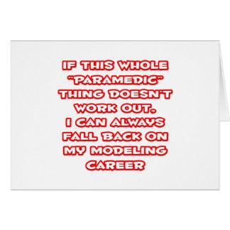 Paramedic Humor Modeling Career Card