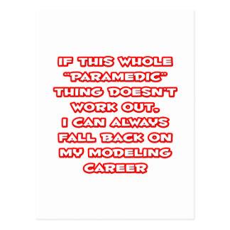 Paramedic Humor Modeling Career Post Card