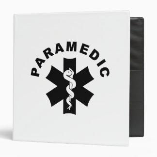 Paramedic Logo Theme 3 Ring Binder