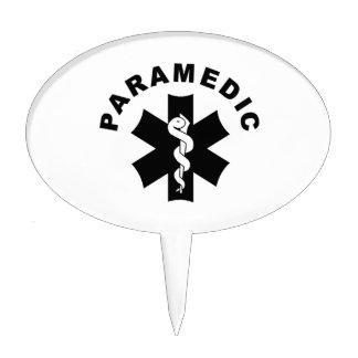 Paramedic Logo Theme Cake Topper