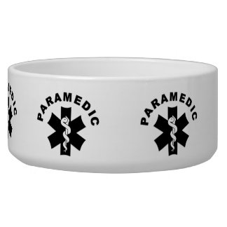 Paramedic Logo Theme Dog Water Bowl