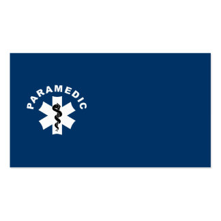 Paramedic Logo Theme Double-Sided Standard Business Cards (Pack Of 100)
