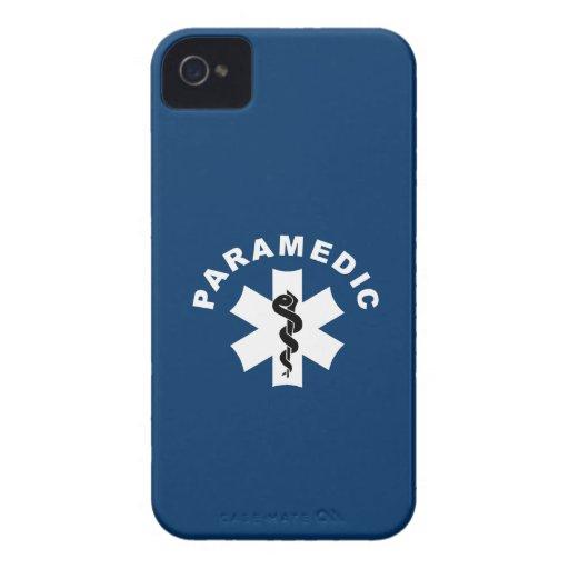 Paramedic Logo Theme iPhone 4 Case