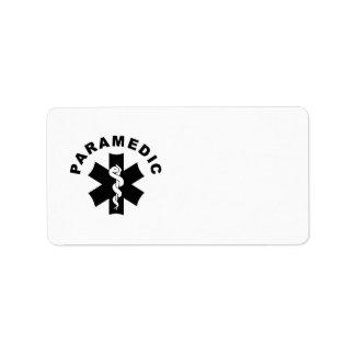 Paramedic Logo Theme Address Label
