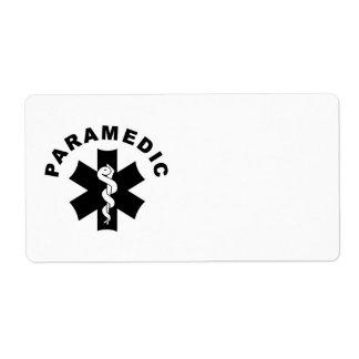 Paramedic Logo Theme Label