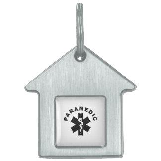 Paramedic Logo Theme Pet Name Tag