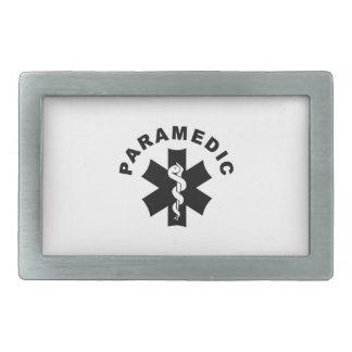Paramedic Logo Theme Rectangular Belt Buckle