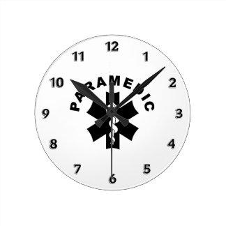 Paramedic Logo Theme Round Clock