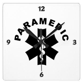 Paramedic Logo Theme Square Wall Clock