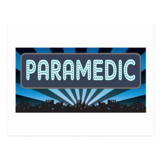 Paramedic Marquee Postcard