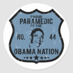 Paramedic Obama Nation Classic Round Sticker