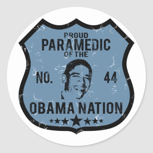 Paramedic Obama Nation Classic Round Sticker