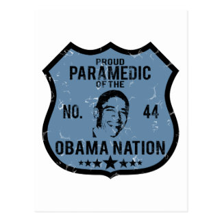 Paramedic Obama Nation Postcard