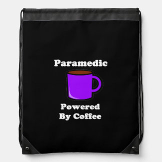 """""""Paramedic"""" Powered by Coffee Drawstring Backpack"""