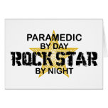 Paramedic Rock Star by Night Greeting Cards