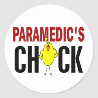 Paramedic's Chick 1 Classic Round Sticker
