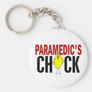 PARAMEDIC'S CHICK BASIC ROUND BUTTON KEYCHAIN