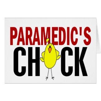PARAMEDIC'S CHICK GREETING CARD